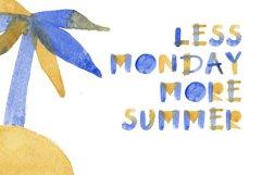Summertime bitmap color font Product Image 3