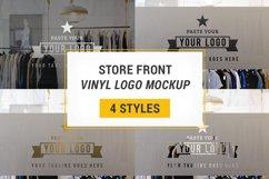 Store Front Vinyl Logo Mockup  Product Image 1