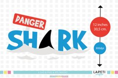 Shark svg, shark clip art, shark png for sublimation Product Image 2