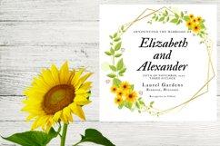 Sunflower Wedding Invitation Product Image 5