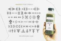 Agnostic - Thin Line Geometric Font Product Image 6