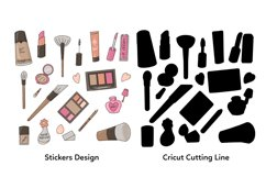 Make Up Printable Stickers Sheet Product Image 2