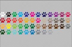 Paw Print SVG Bundle - Color Paw Print Clip Art Product Image 2