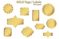 Gold Clip Art Tags and Labels Product Image 3