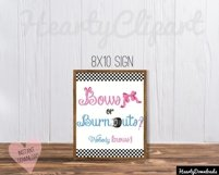 Bows or burnouts, gender reveal printable party Product Image 2