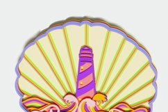 Multilayer Lighthouse Mandala, Vector file for cutting Product Image 2