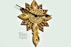 Cross Wall Clock design dxf, Cricut svg, laser cutting file. Product Image 1