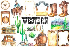 Watercolor Western Clipart Product Image 3