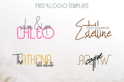 Hollen Amare Font Duo - free logo template Product Image 2