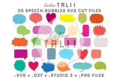 Speech Bubbles SVG Cut files BUNDLE Product Image 1