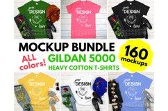 Gildan 5000 Mockup Bundle - Gildan Heavy Cotton T-shirts Product Image 1