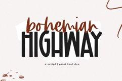 Bohemian Highway - A Print/Script Handwritten Font Duo Product Image 1