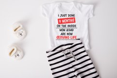 9 months on the inside baby SVG|DXF Cut File Product Image 1