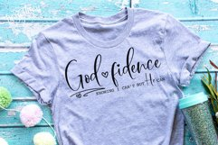 God-fidence Knowing I can't but He can SVG | DXF Cut File Product Image 1