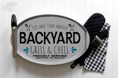 Backyard BBQ Grill and Chill Brew and BBQ SVG | DXF Cut File Product Image 3
