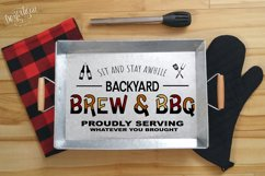 Backyard BBQ Grill and Chill Brew and BBQ SVG | DXF Cut File Product Image 2