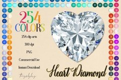 254 Real Heart Diamond Clip arts PNG Transparent Valentine Product Image 1