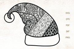 Santa Hat Zentangle SVG - Christmas Hat Doodle Art SVG Product Image 1