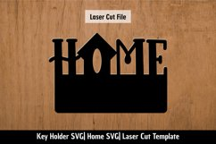 Home SVG  Key holder Laser cutting template Product Image 2