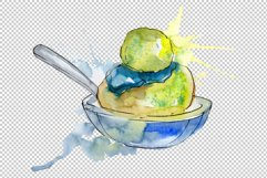 Dessert Appetizing Watercolor png Product Image 4