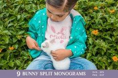Easter Bunny Ears Split Monogram svg png eps Product Image 6