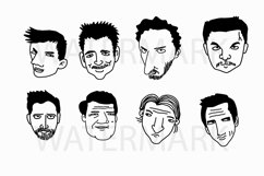 Face Set B - SVG/JPG/PNG Hand Drawing Product Image 1