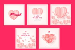 Love Wedding Background Template Product Image 2