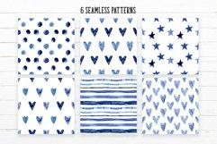 Indigo Blue Watercolor Patterns Product Image 2