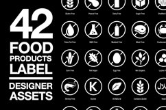 42 Food Allergy & Products Label SVG AI EPS Product Image 1