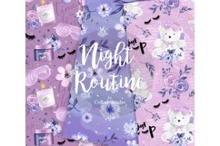 Bedtime digital paper, nightime routine, girly papers Product Image 4