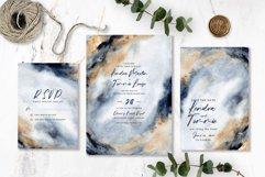 Elegant Grey Gold Abstract Background Wedding Invitation Set Product Image 3