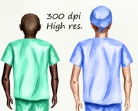 Nurses clipart, Doctor clipart, Medical clipart Custom Nurse Product Image 5