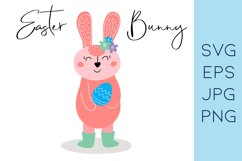 Easter bunny SVG |Rabbit clipart|Bunny and egg Product Image 1