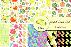 Citrus Digital Paper, papers 16 summer seamless patter Product Image 2