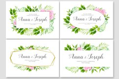 Floral wedding invitations vector set Product Image 5