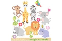 Jungle Animals Clipart Product Image 2