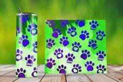 Skinny Tumbler Wraps Watercolor Pet Paws Product Image 3