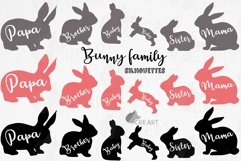 Bunny family silhouettes, pink and blush rabbit Easter decor Product Image 1
