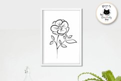 Black and White Flower Clipart | Mothers Day Floral SVG Product Image 4