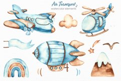 Air transport 2. Watercolor clipart Product Image 4