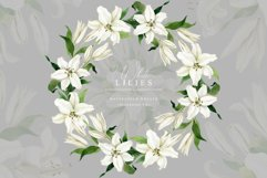 White Lilies Watercolor Collection Product Image 5