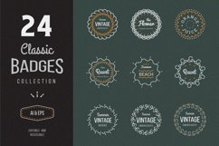 24 Vintage Circle Badges Product Image 1
