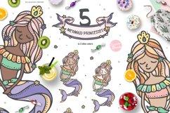 Mermaid Princess - Cute Summer Girl Clipart Product Image 4