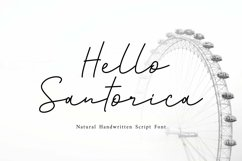 Web Font Santorica - Script Font Product Image 1
