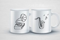 Music doodle kit SVG design Product Image 2