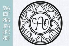 Mandala Monogram SVG Product Image 1