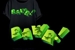 Dinosaur Font for Crafters with Cricut and Silhouette Product Image 6
