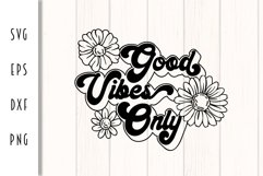 Good Vibes Only Retro Design Product Image 2