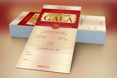 Anniversary Gala Ticket Template Product Image 3