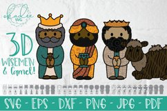 3D Nativity SVG, Layered Christmas Cut File, Baby Jesus, DXF Product Image 4